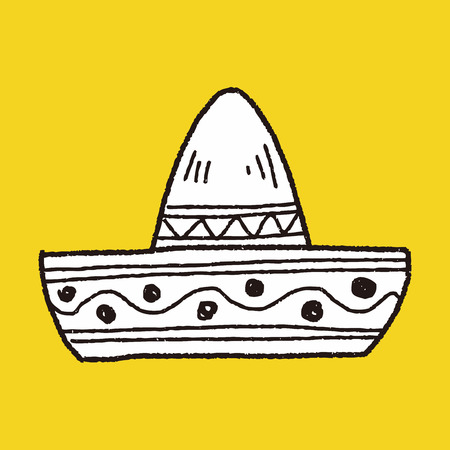 symbol traditional: mexican hat doodle