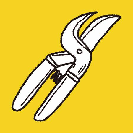pruning shears: scissor doodle