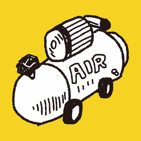 compresor: doodle del compresor Vectores