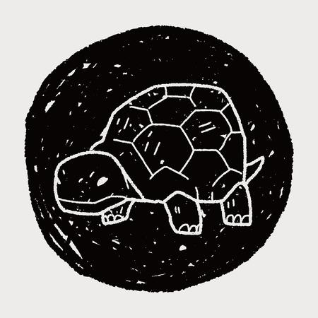 tortoise doodle Vector