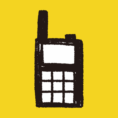 handheld: handheld transceiver doodle