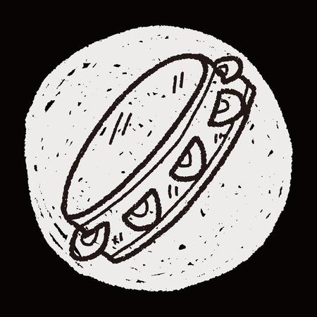 pandero: doodle de pandereta