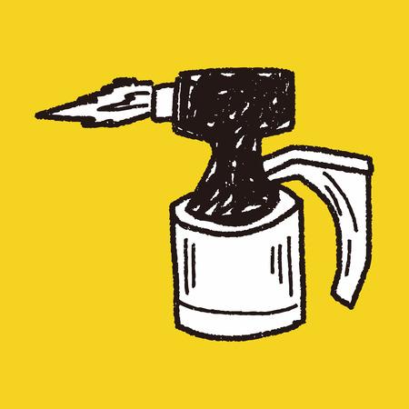 butane: welding doodle Illustration