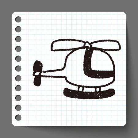 helicopter: helicopter doodle drawing Illustration