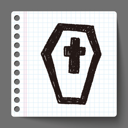 grave doodle drawing Vector