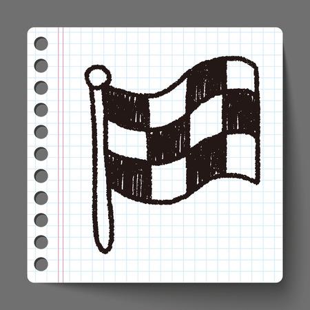 race flag: race flag doodle drawing