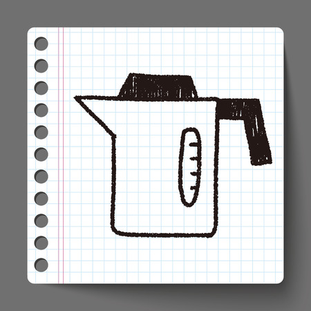 hot water bottle: kitchenware hot water bottle doodle drawing
