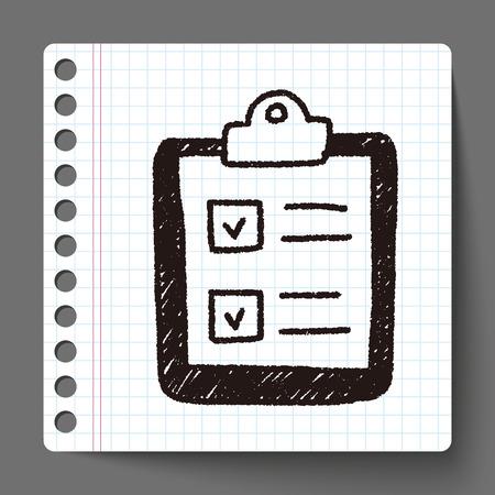 paper controle lijst doodle tekening Stock Illustratie