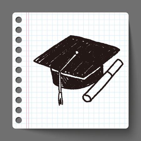bachelor: Doodle Bachelor cap