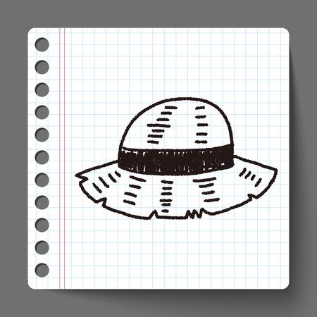 straw hat: doodle Straw hat