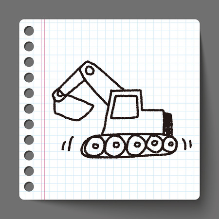 Doodle Excavator Vector