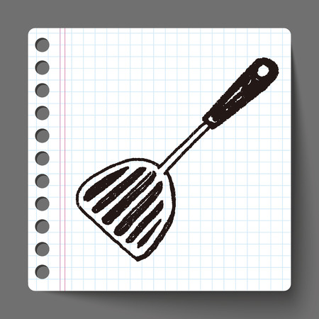 culinaire: Cuill�re culinaire Doodle