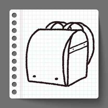 Школа: каракули мешок школы