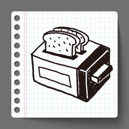 toaster: Doodle Toaster Illustration