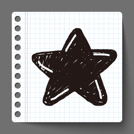 hvězda: Doodle hvězda Ilustrace