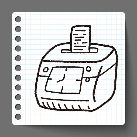 Time card doodle Vector