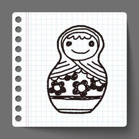 muñecas rusas: Doodle muñecas rusas