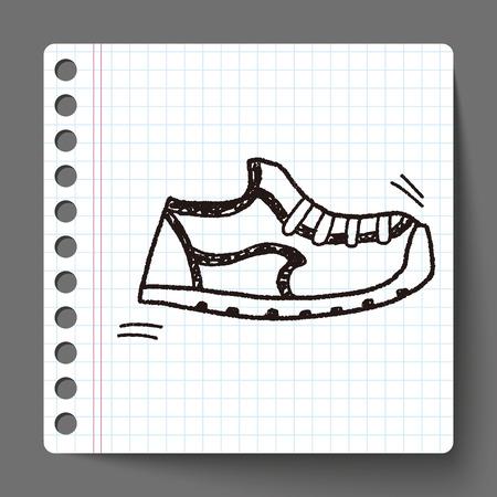 shoelace: Doodle Sneakers Illustration