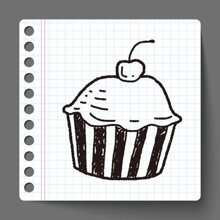 Doodle Cake Vector