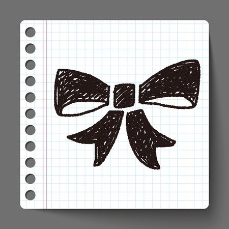 hand knot: Doodle Bow Illustration