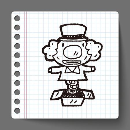 surprise box: Doodle Surprise Box Illustration