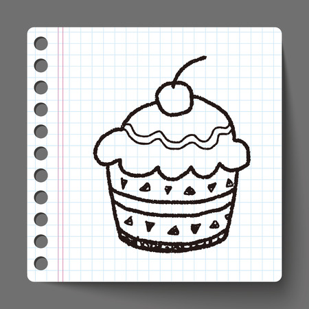 cup cake: doodle cake