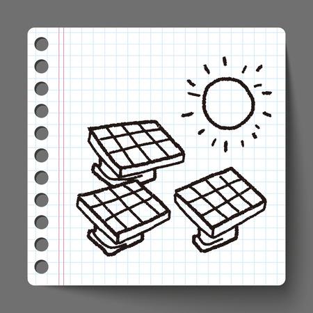 solar energy: Environmental protection concept; solar energy; saving energy; doodle