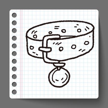 collarin: collar del animal doméstico del doodle