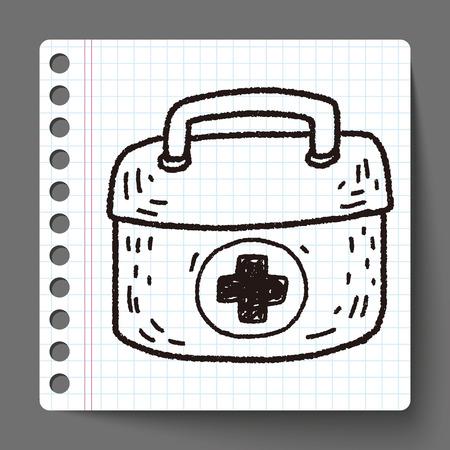erste hilfe koffer: Erste-Hilfe-Kit doodle