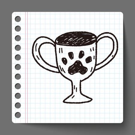 doodle pet champion cup Vector