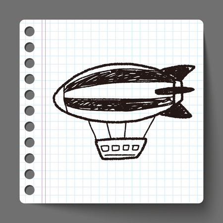 luftschiff: Airship doodle Illustration