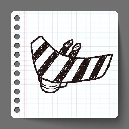 hang gliding: Hang gliding doodle