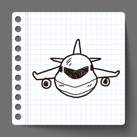 aeroplane: airplane doodle Illustration