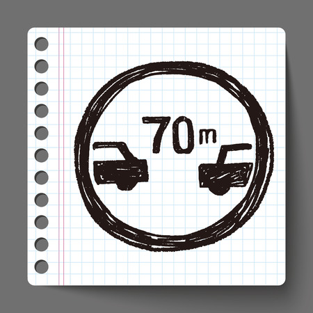 minimum: Minimum safe following distance  doodle