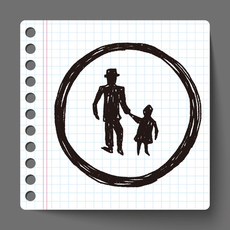 kid sign doodle