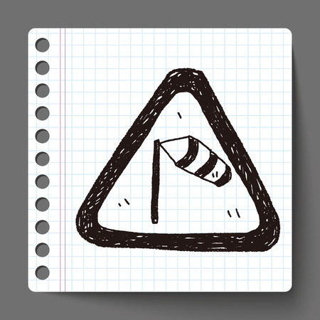 windsock: high wind doodle Illustration