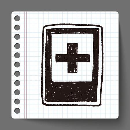hospital sign: hospital sign doodle