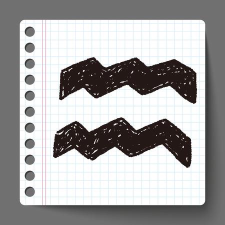 constelacion: Acuario de la constelaci�n del doodle Vectores