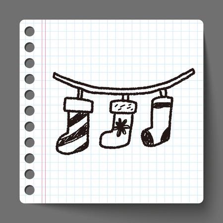 christmas socks: Christmas socks doodle