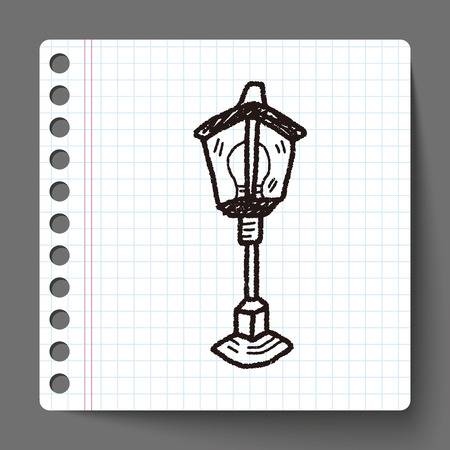 street lamp: street lamp doodle Illustration