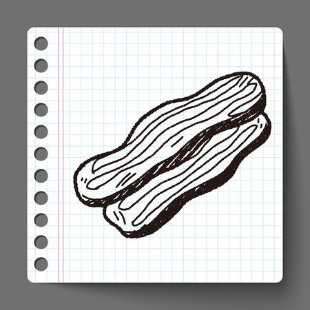 bacon strips: Bacon doodle