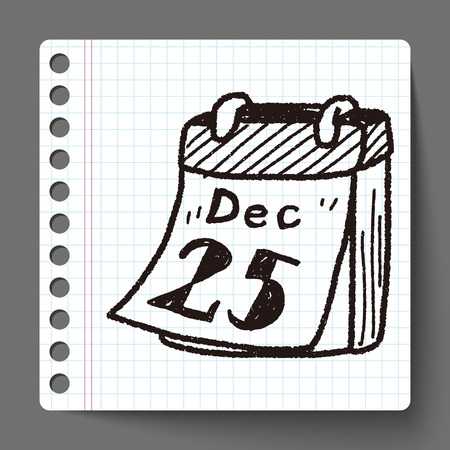 almanac: December calendar doodle