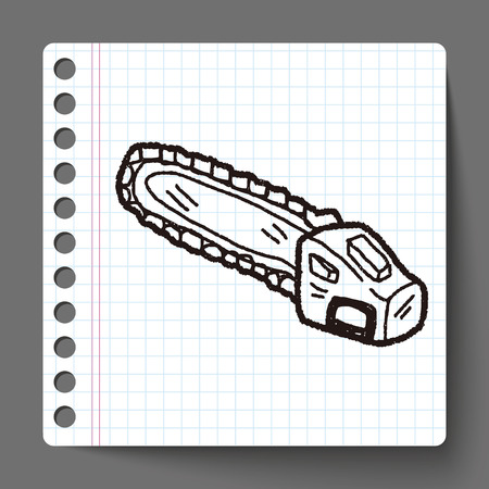 chainsaw: chainsaw doodle