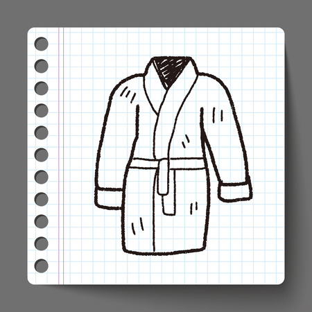 bathrobe: bathrobe doodle