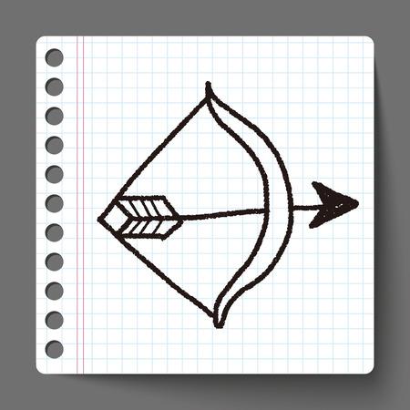 longbow: bow and arrow doodle