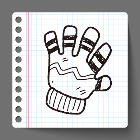 winter gloves: winter gloves doodle