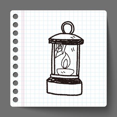 oil lamp: Oil lamp doodle