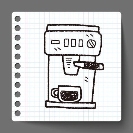 coffee machine doodle
