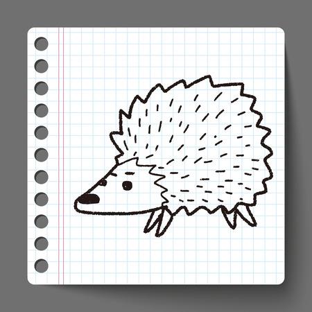 hedgehog: hedgehog doodle Illustration