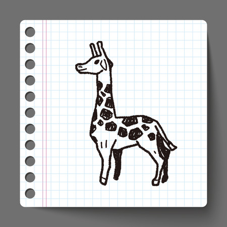 giraffe: giraffe doodle